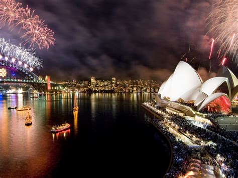 Happy New Year Christmas New Year Fireworks In Sydney